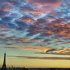 Photographies de la tour eiffel - Images de la tour eiffel au coucher de soleil ...
