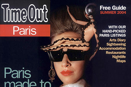 The cover of Time Out Paris with a picture taken at a fashion show.