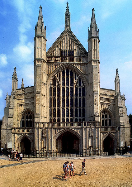The Facade Of Winchester Cathedral