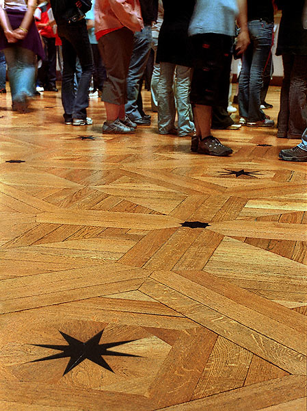The Floor Of The Grande Galerie Inside The Louvre Museum