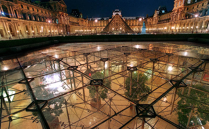 The Inverted Pyramid Between The Louvre Museum And The