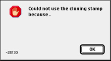 A strange, nonsensical dialogue box seen in Photoshop 4.