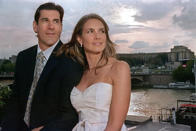 Keith And Amy Carney Next To Palais De Chaillot