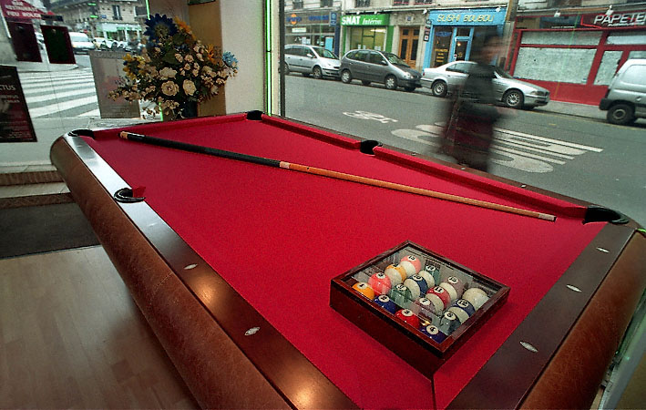 6c4450252b20a6 A pool table in the showroom of the René Pierre Billiard shop in Paris.